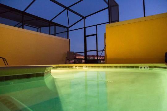 Paradise Palms - Little Mermaid's Paradise - 18-Pool-Dusk-2
